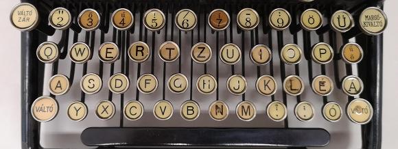 Raevius ezredes írógépe