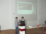 Roland bemutatja a prezentációját