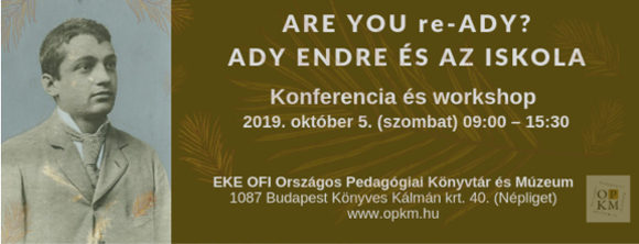 Konferencia és workshop pedagógusoknak, könyvtárosoknak, érdeklődőknek 2019. október 5. (szombat) 09:00 – 15:30