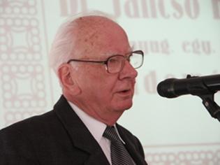 Jáki László a Jancsó Benedek című könyve bemutatóján, 2013. március 6-án
