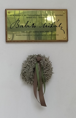 Babits Mihály-emléktábla leleplezése