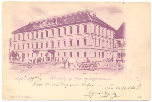 Az iglói evangélikus főgimnázium 1867-ben készült épülete.