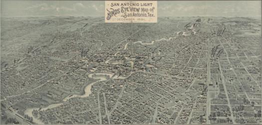 San Antonio látképe 1891-ből.