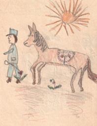 Petrich Kató: Katona és lova
